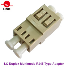 LC Duplex RJ45 Type Multimode Fiber Optic Adapter